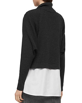 ALLSAINTS - Marais Layered-Look Turtleneck Sweater