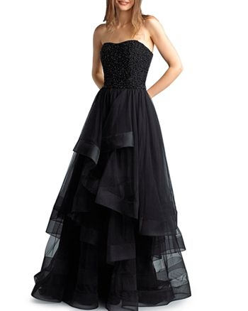 Basix - Strapless Tulle Ball Gown