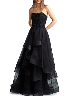Basix Strapless Tulle Ball Gown