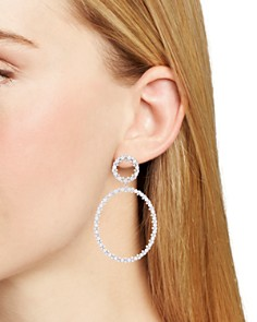 Nadri - Tulle Large Hoop Drop Earrings