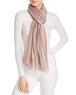 Echo - Striped Wool Scarf