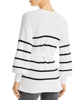 FRAME - Striped Wrap Sweater
