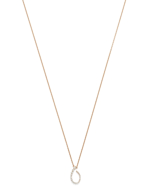 Own Your Story 14K Rose Gold Flow Graduated Diamond Curl Pendant Necklace, 18