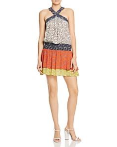 Ramy Brook - Crystal Color-Blocked Dress