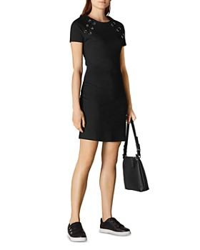 26844399924 KAREN MILLEN - Lace-Up Jersey Dress ...