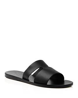 Ancient Greek Sandals - Women's Apteros Flat Slide Sandals