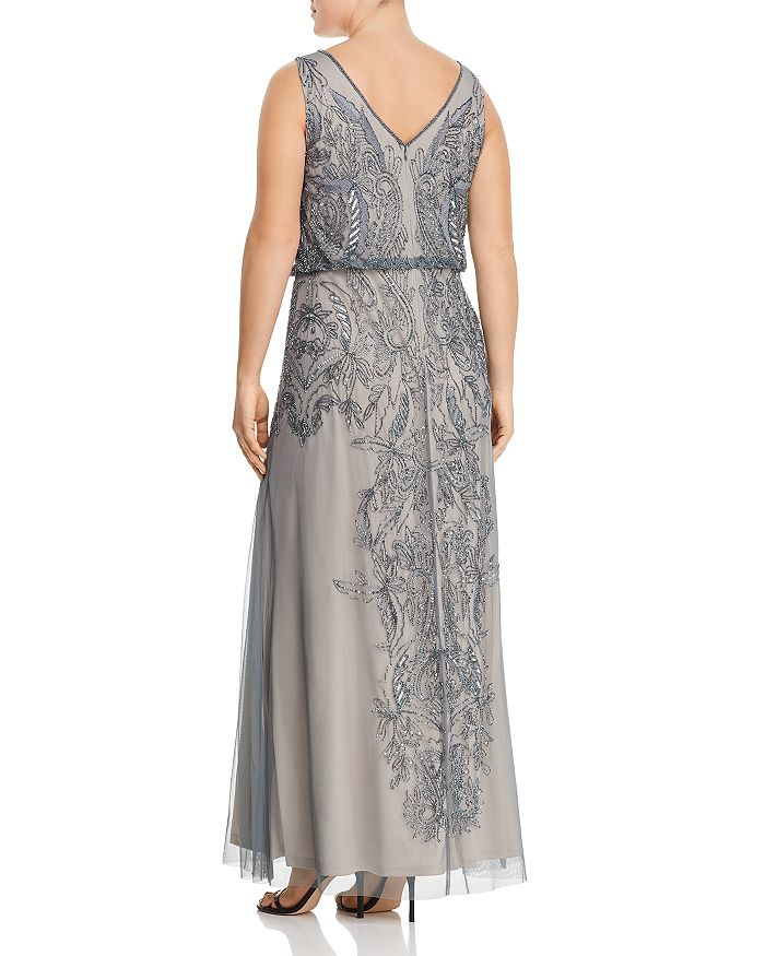 e9b9f8296ee Adrianna Papell Plus - Sleeveless Beaded Gown