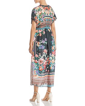 Johnny Was - Brenda Silk Floral Maxi Dress