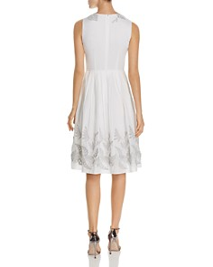Elie Tahari -  Astrid Fit-and-Flare Appliqué Dress