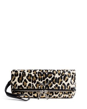 Zadig & Voltaire Rocky Leopard Clutch