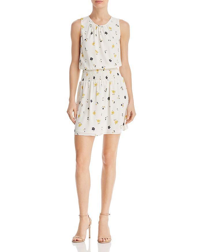 AQUA - Floral Smocked-Waist Dress - 100% Exclusive