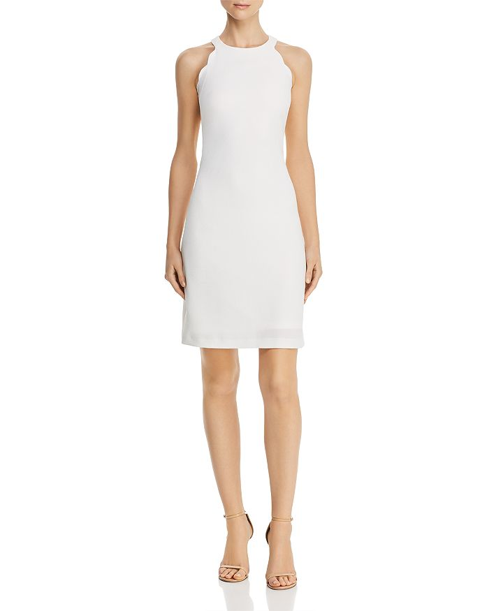 Adrianna Papell - Scalloped A-Line Dress