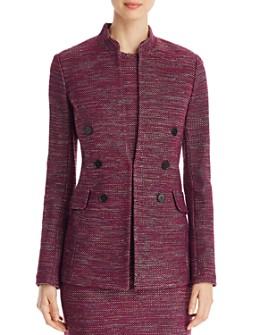 St. John - Double Breasted-Detail Tweed Jacket