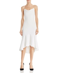 Alice and Olivia - Adrina Cowl-Neck Midi Dress