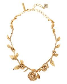 """Oscar de la Renta - Petite Rose Pavé Necklace, 13"""""""