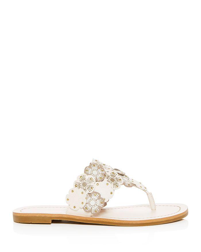a5c1fec35b72 COACH - Women s Lottie Floral Thong Sandals