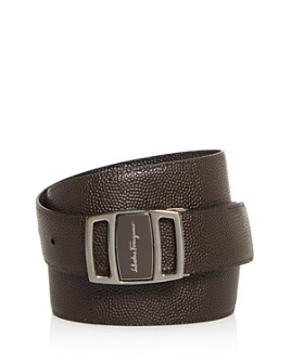 Salvatore Ferragamo - Men's Vara Reversible Pebbled Leather Belt