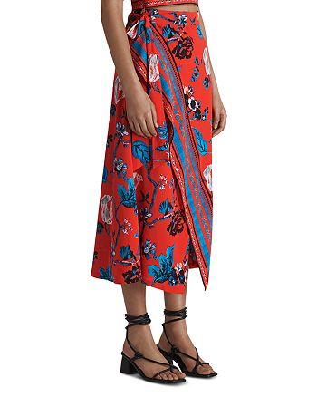 Whistles - Scarf Print Wrap Skirt