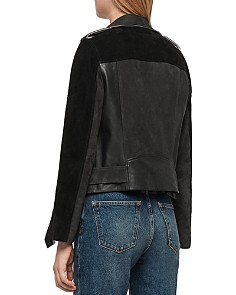 ALLSAINTS - Balfern Color-Block Suede & Leather Biker Jacket