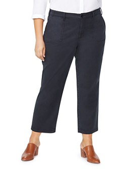 NYDJ Plus - Cropped Straight-Leg Chinos