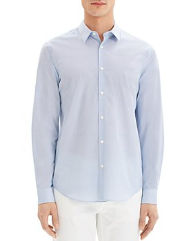 Theory - Sylvian Cotton Stretch Printed Regular Fit Button-Down Shirt