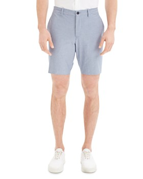 Theory - Zaine Oxford Striped Slim Fit Shorts