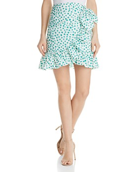 38971454fd Rebecca Taylor - Emerald Ruffled Floral Skirt ...