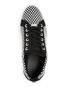 Jimmy Choo - Men's Cash Leather Low-Top Sneakers