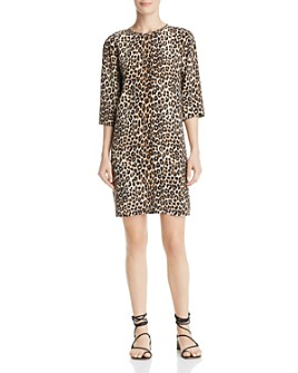 Equipment - Aubrey Leopard-Print Silk Dress