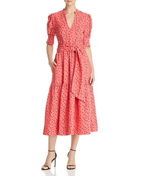 Rebecca Vallance - Holliday Belted Dot-Print Dress