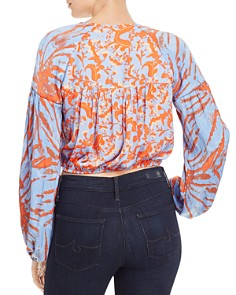 Free People - Cruisin Together Mixed-Print Cropped Top