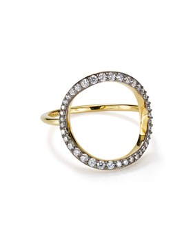 Nadri - Sterling Villa Open Circle Ring in 18K Gold-Plated Sterling Silver