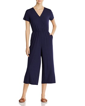 Cupio - Cropped V-Neck Knit Jumpsuit