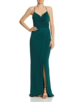 Bariano - Rose Draped Gown