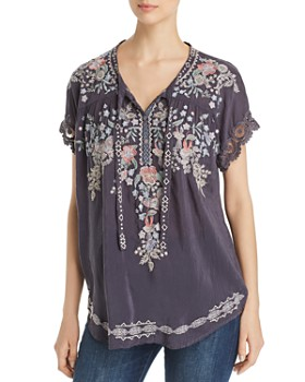 d3f25e1b1b3bbe Johnny Was - Avril Embroidered Blouse ...