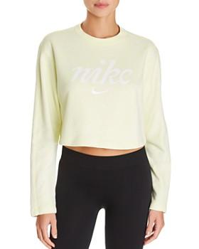 Nike - Logo Cropped Sweatshirt