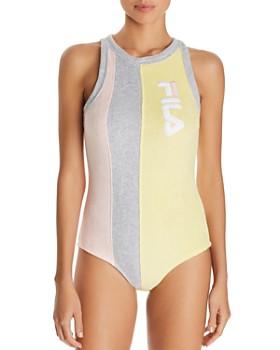 FILA - Dahlia Color-Block Terry Bodysuit