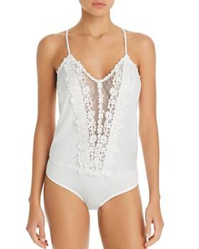 Flora Nikrooz - Showstopper Lace-Trim Bodysuit