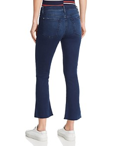 7 For All Mankind - Cropped Bootcut Jeans in B(Air) Varnish