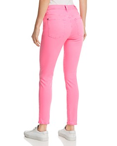 7 For All Mankind - High-Rise Ankle Skinny Jeans in Neon Pink