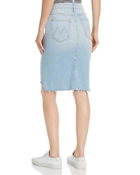 MOTHER - The Peg Frayed Step-Hem Denim Skirt