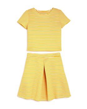 AQUA - Girls' Striped Top & Skirt, Big Kid - 100% Exclusive