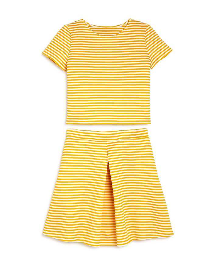 AQUA - Girls' Striped Top & Skirt, Big Kid - 100% Exclusive