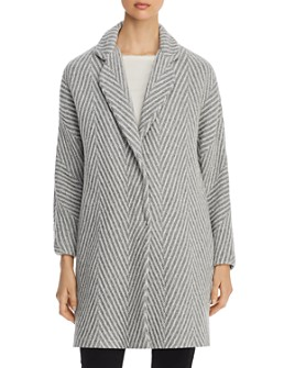 Herno - Chevron Metallic Knit Coat - 100% Exclusive