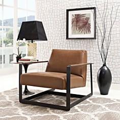 Modway - Seg Upholstered Vinyl Accent Chair