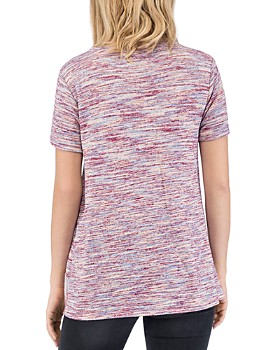 B Collection by Bobeau - Rachelle Printed Twist-Front Tee