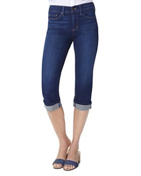 NYDJ - Petites Marilyn Cropped Cuffed Jeans in Bezel