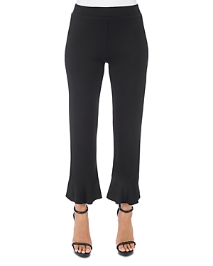 B Collection By Bobeau Pants B COLLECTION BY BOBEAU DEAN RUFFLE-HEM CROPPED PANTS