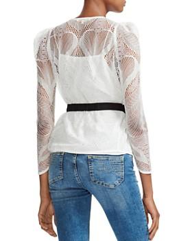 Maje - Lizoni Belted Lace Blouse