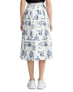 Maje - Japomy Printed Midi Skirt